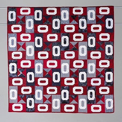 20: THE JOKE'S ON MICHIGAN wall hanging quilt by Gail W