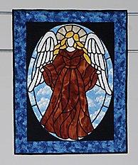 23: GUARDIAN ANGEL wall hanging quilt by Joyce Bonham.