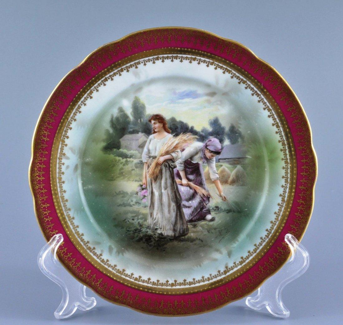 Antique Russian Plate GARDNER porcelain