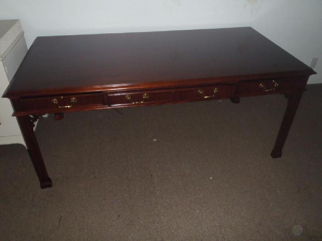 Partners mahogany Library table, straight Leg