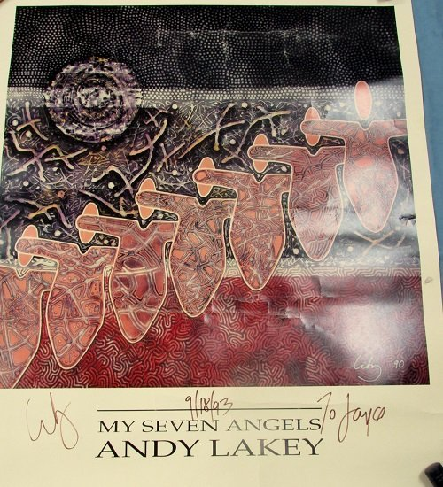 """Lithograph of,"""" My Seven Angels"""" by Andy Lakey"""