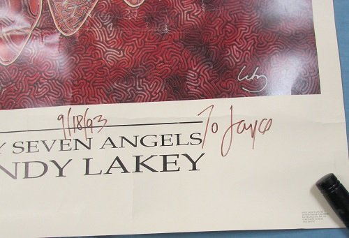 """Lithograph of,"""" My Seven Angels"""" by Andy Lakey - 4"""