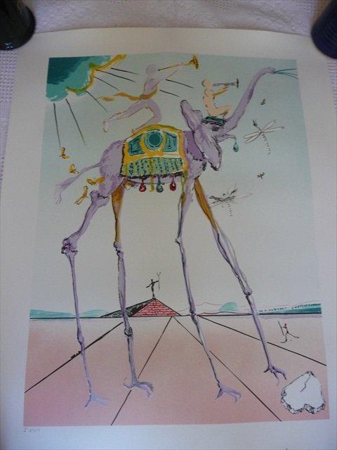 """Salvador Dali's lithograph of """"Celestial Elephant"""" 1979"""
