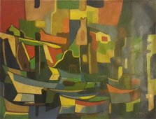 LARGE MARCEL MOULY PAINTING-Abstrait- SIGNED