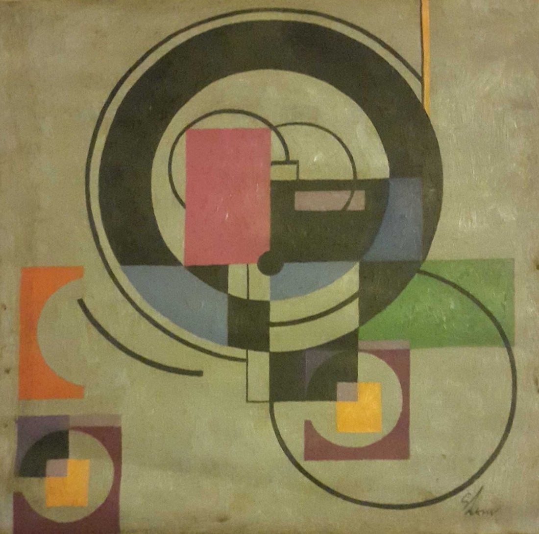 """New York Artist Charles Green Shaw """"Abstraction"""" Signed"""