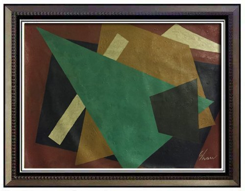 """Charles Green Shaw """"Abstraction""""Signed"""