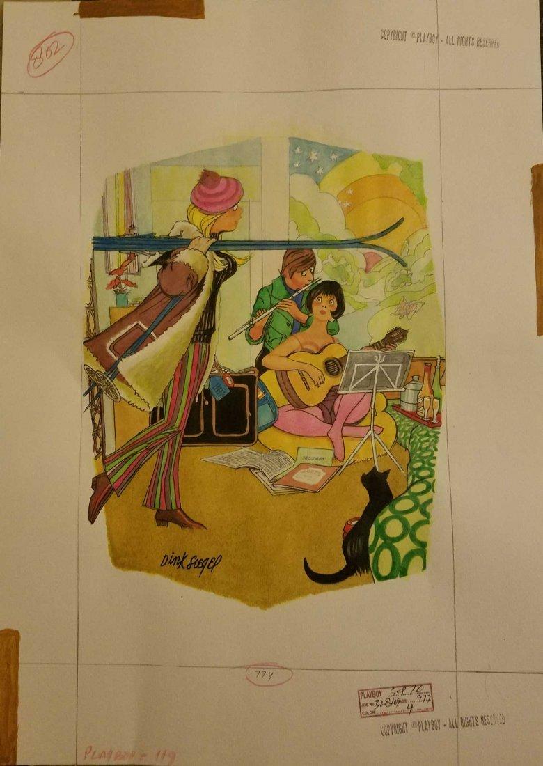 1968 DINK SIEGEL PLAYBOY MAGAZINE ART ORIGINAL
