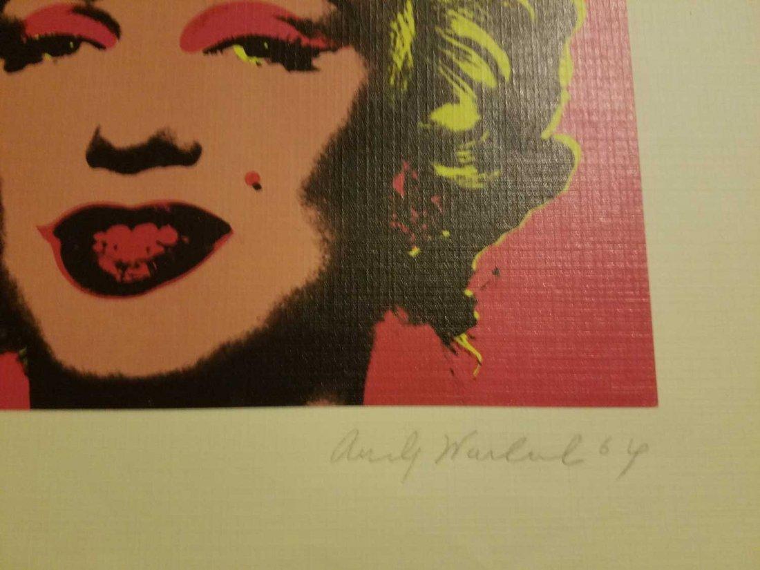 ANDY WHROL MARILYN MONROE 1967 SIGNED - 3