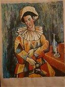PABLO PICASSO Spanish 1881-1973 Oil Portrait signed