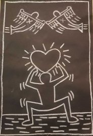 IN THE STYLE OF Keith Haring Untitled (Subway Drawing)-