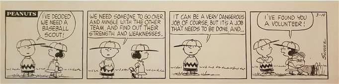 Charles Schulz Peanuts Daily Comic Strip