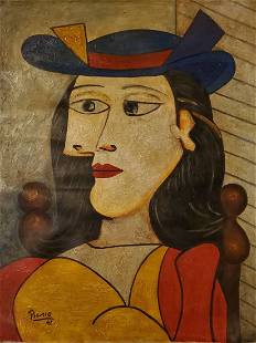 PABLO PICASSO Spanish 1881-1973 Oil Portrait