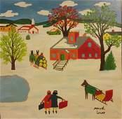 Canadian Artist MAUD LEWIS-Signed-Provenance