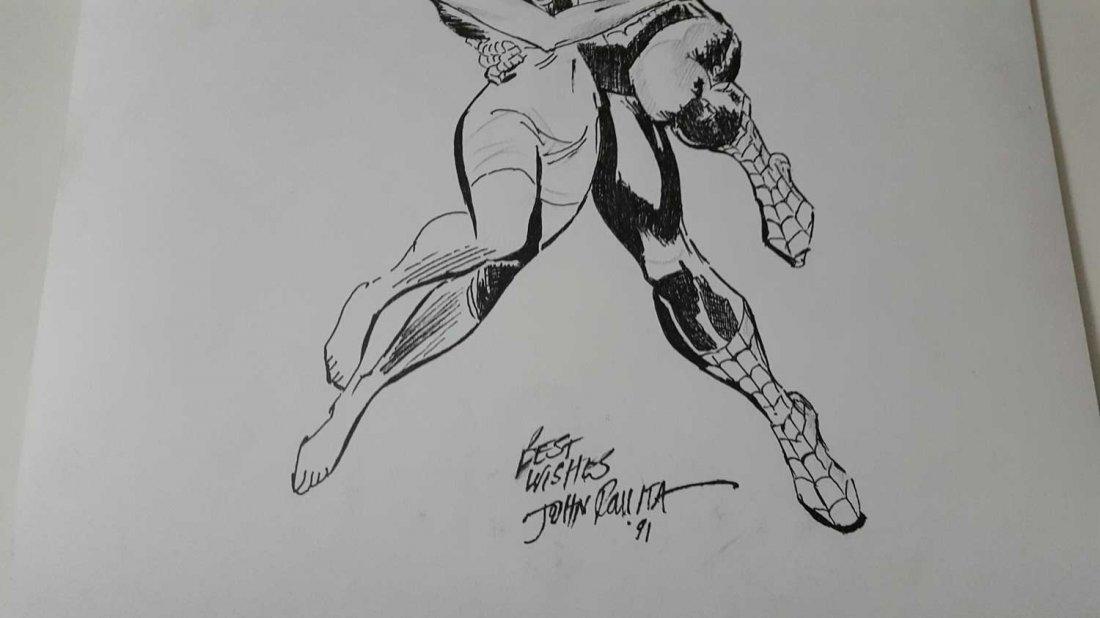 JOHN ROMITA Sr.Spiderman 520 preliminar cover-Signed - 3