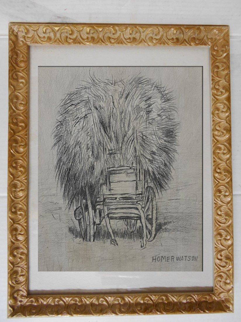 Canadian Artist Homer Ransford Watson-Graphite on Paper