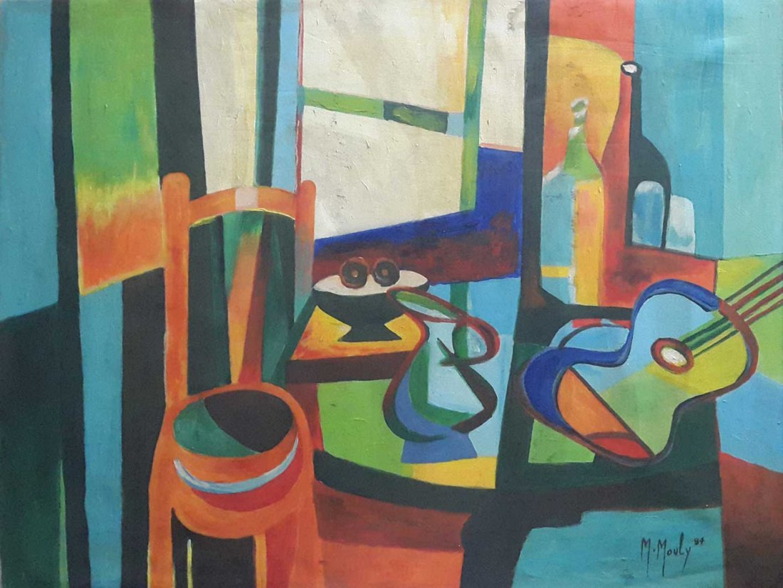 LARGE MARCEL MOULY PAINTING-Nature Morte- SIGNED