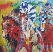 Authentic LeRoy Neiman-HORSES- Signed