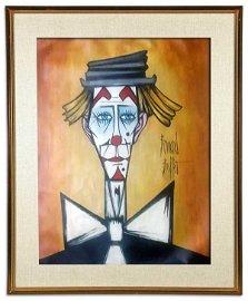 BERNARD BUFFET (1928-1999)- Clown- SIGNED