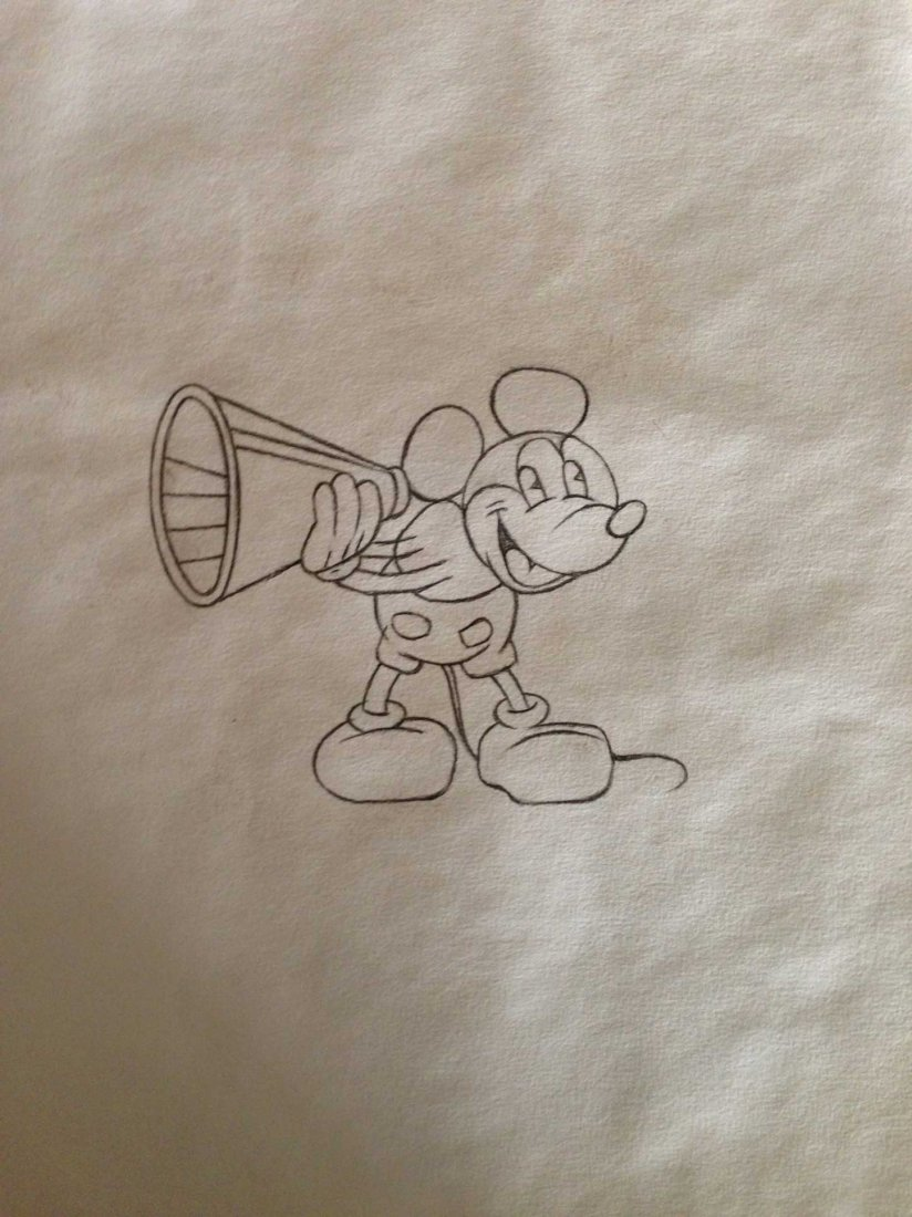 1940 Production Drawing, Mickey Mouse, Disney