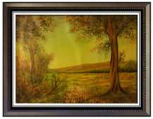 "Joseph Henry Sharp 1959-1953 ""land cape""Oil on Canvas"