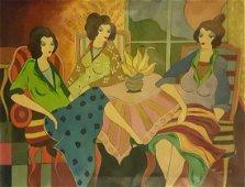 LARGE ITZCHAK TARKAY(1935-2012) –untitled-Oil On Canvas