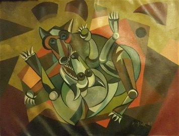 ANG KIUKOK PHILIPPINE IMPRESSIONIST ARTIST Painting.