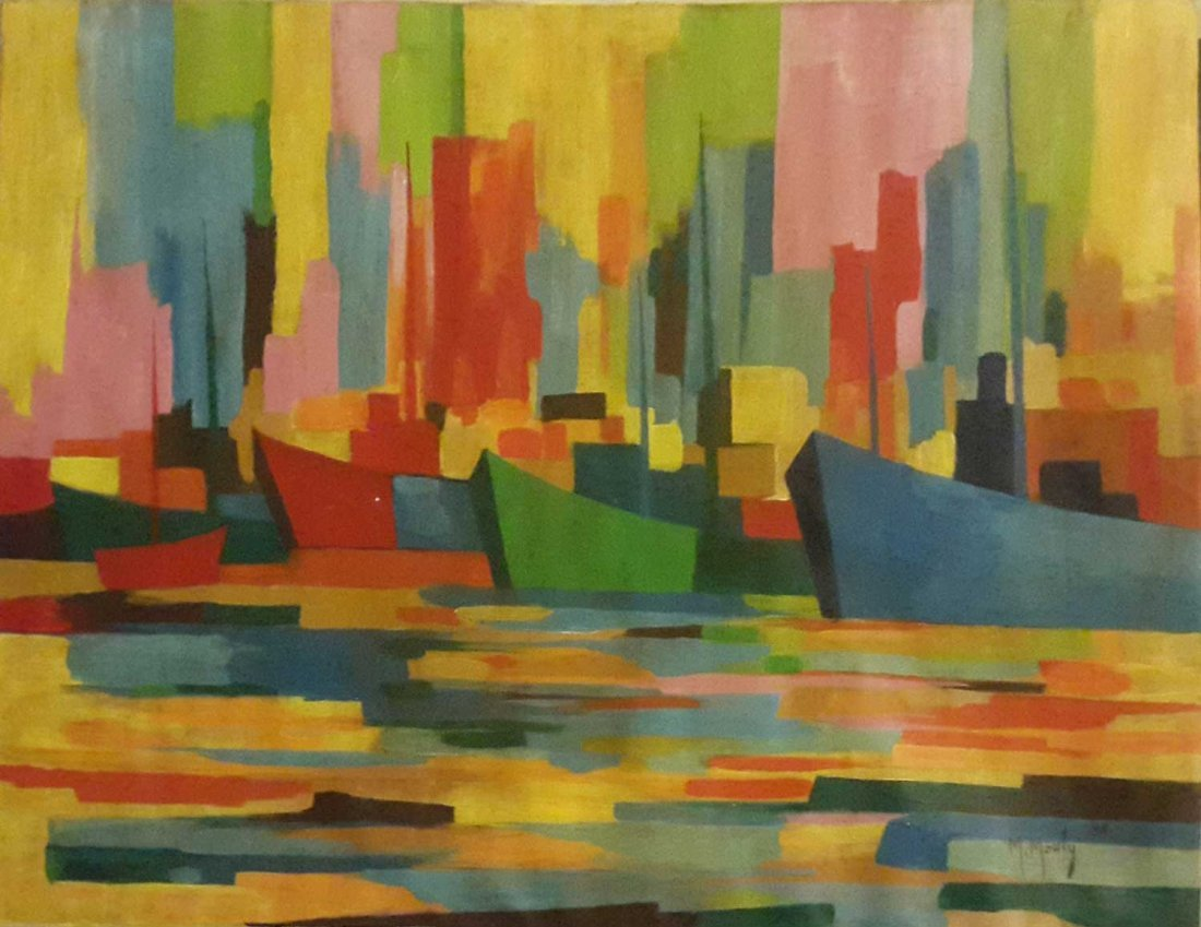 LARGE MARCEL MOULY PAINTING-SIGNED