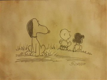 """1950 Charles M. Schulz""""Peanuts"""" Signed"""