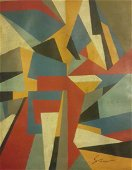 """New York Artist Charles Green Shaw \""""Abstraction\"""""""