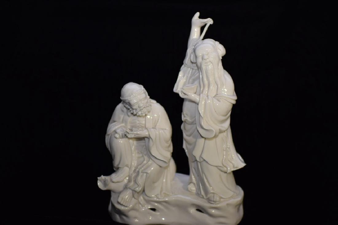 Early 20th C. Chinese Blanc de Chine Two Deities