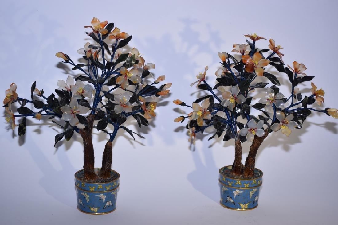 Pair of Chinese Jade Tree