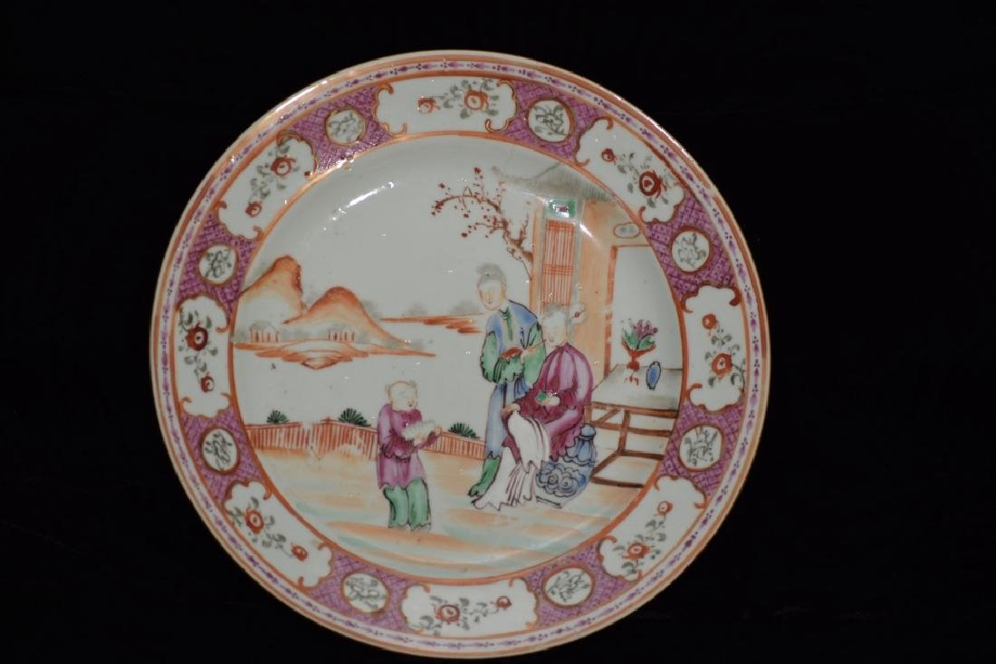19th C. Chinese Export Famille Rose Plate
