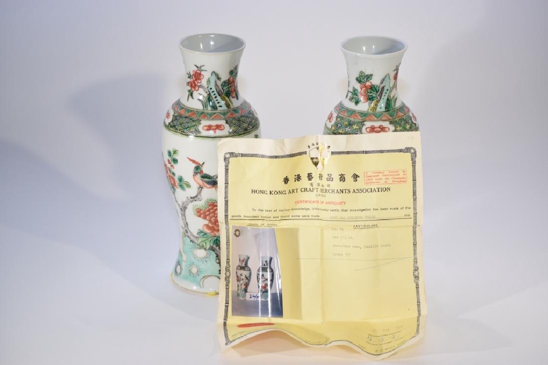 Pair of 19th C. Chinese WuCai Vases