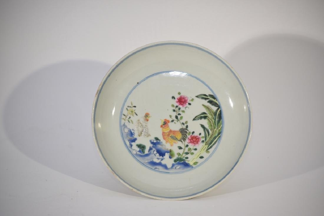 QianLong Chinese Blue and White with Famille Rose