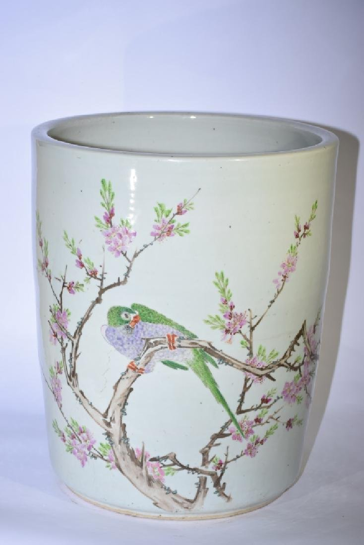 Rare Large Late Qing Chinese Famille Verte Flower Pot