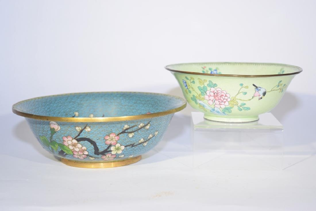 Chinese Cloisonne and Enamel over Bronze Bowls