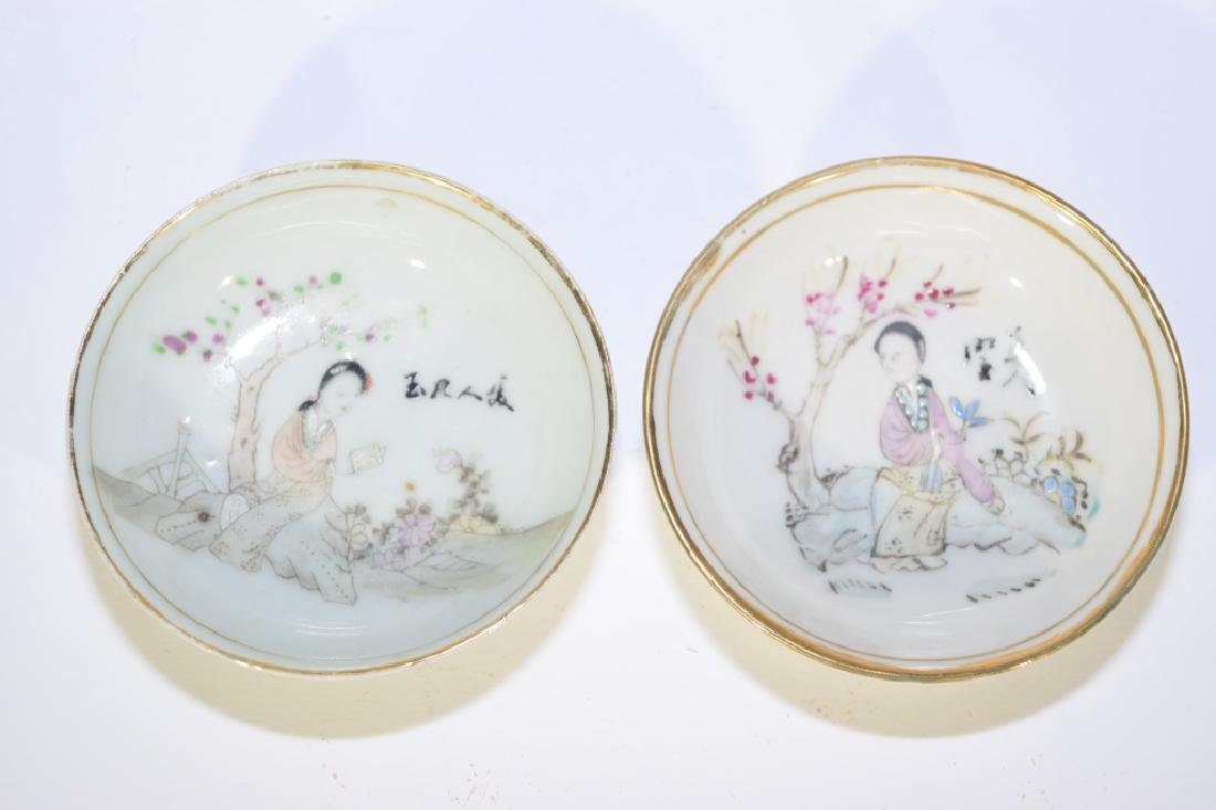 Two Republic Chinese Famille Rose Plates