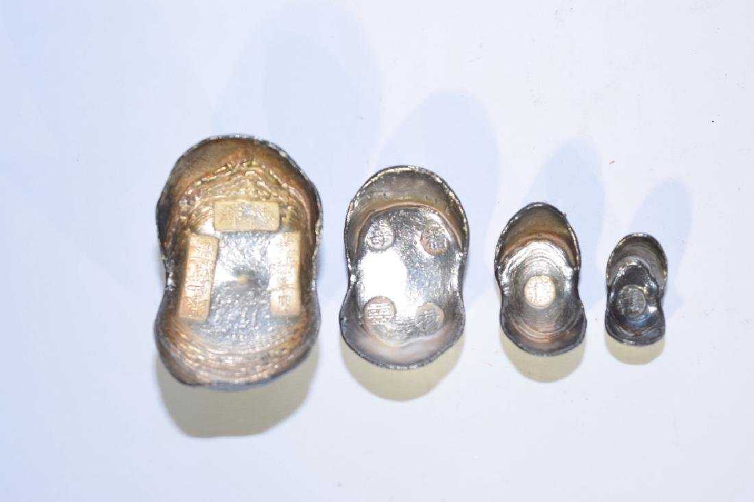 Set of Four Chinese Silver Ingots