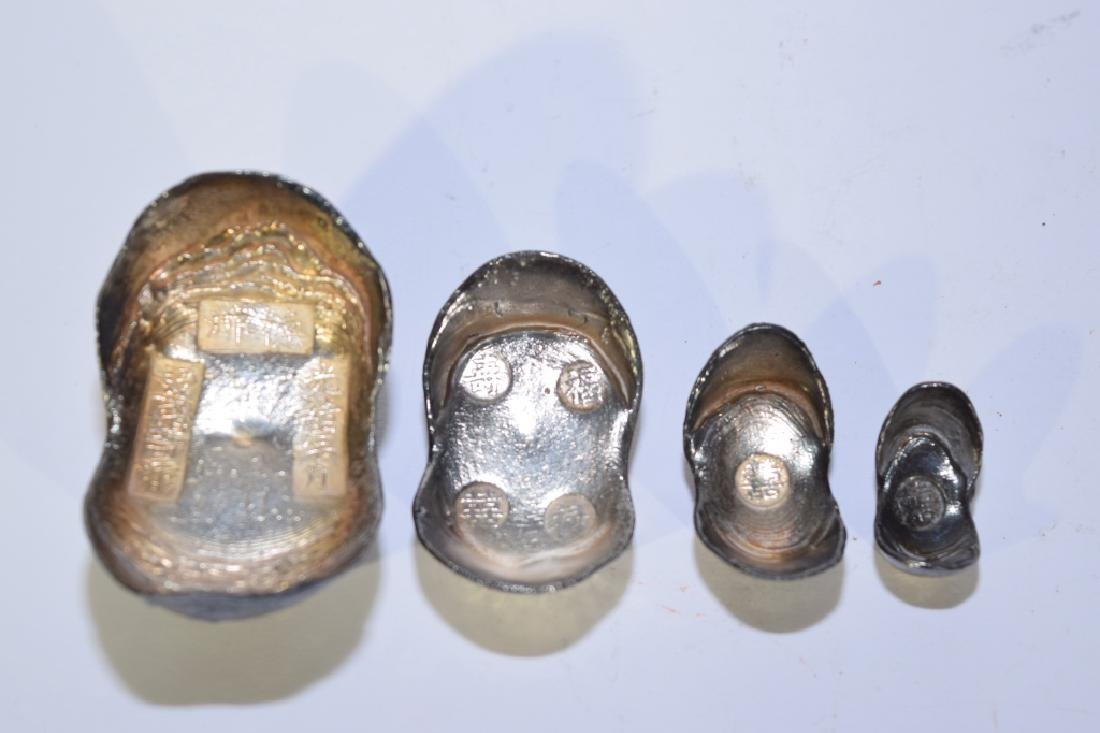 Set of Four Chinese Silver Ingots - 4