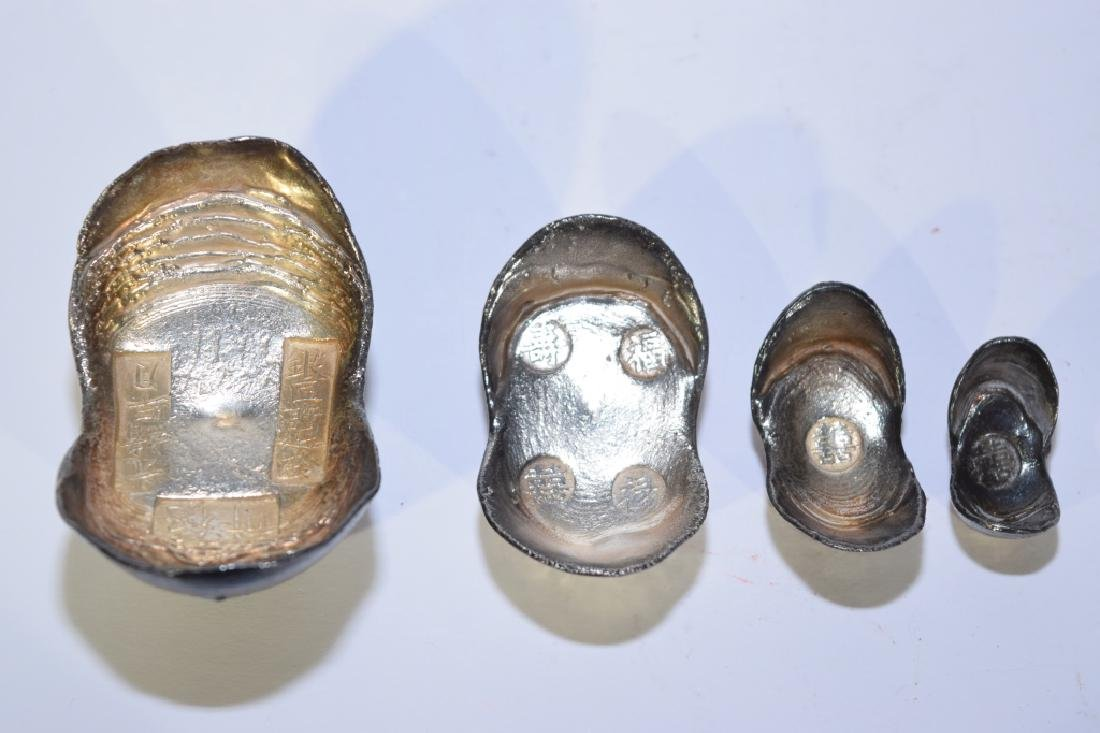 Set of Four Chinese Silver Ingots - 5