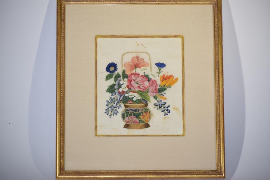 Chinese Watercolor Flower Painting on Rice Paper