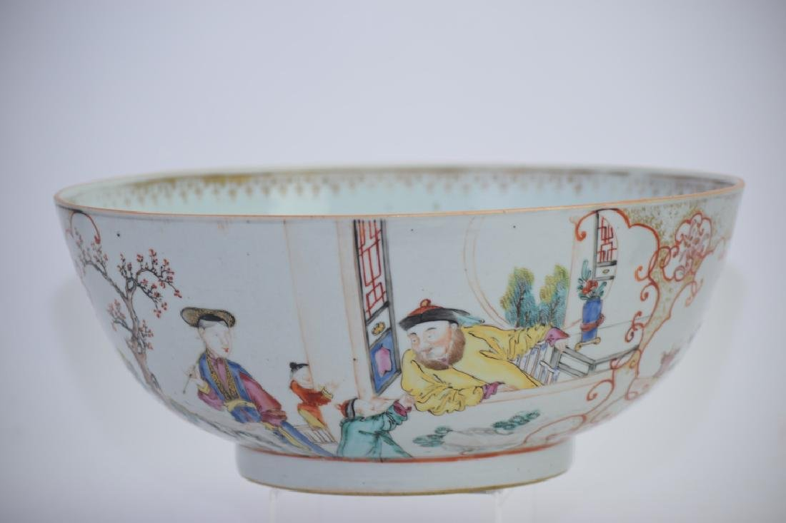 Large 18th C. Chinese Export Famille Rose Bowl