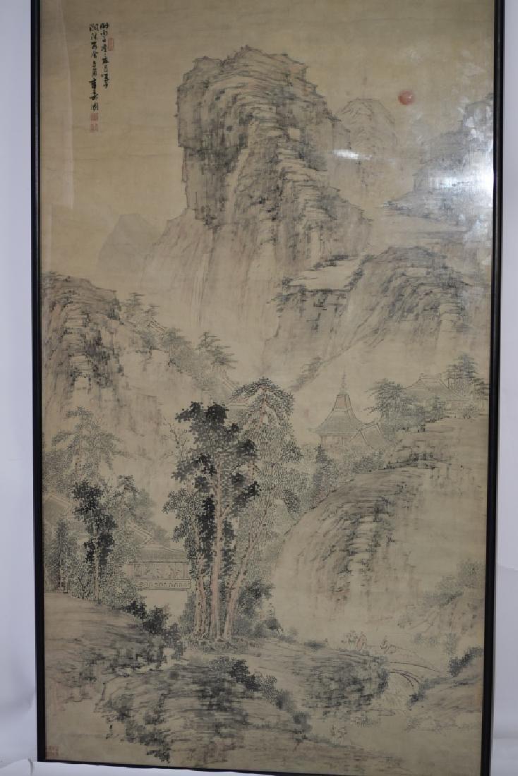 Qing Chinese Watercolor Painting, Zhang ShouTu