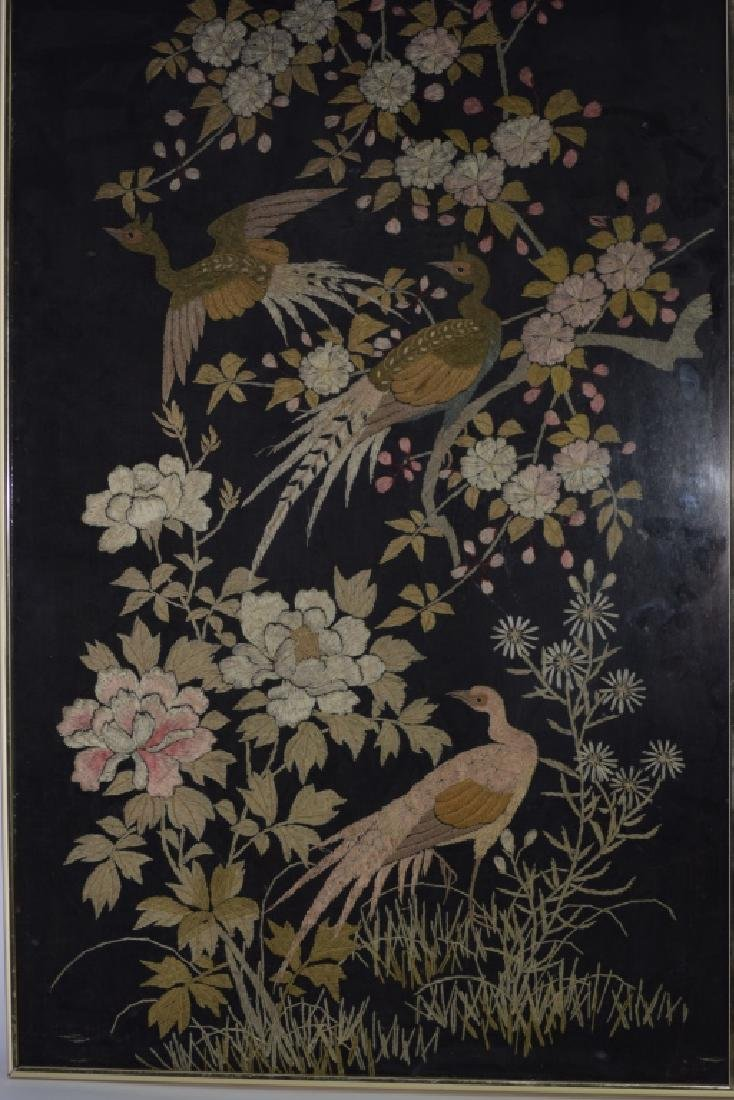 Republic Chinese Framed Embroidery of Pheasants
