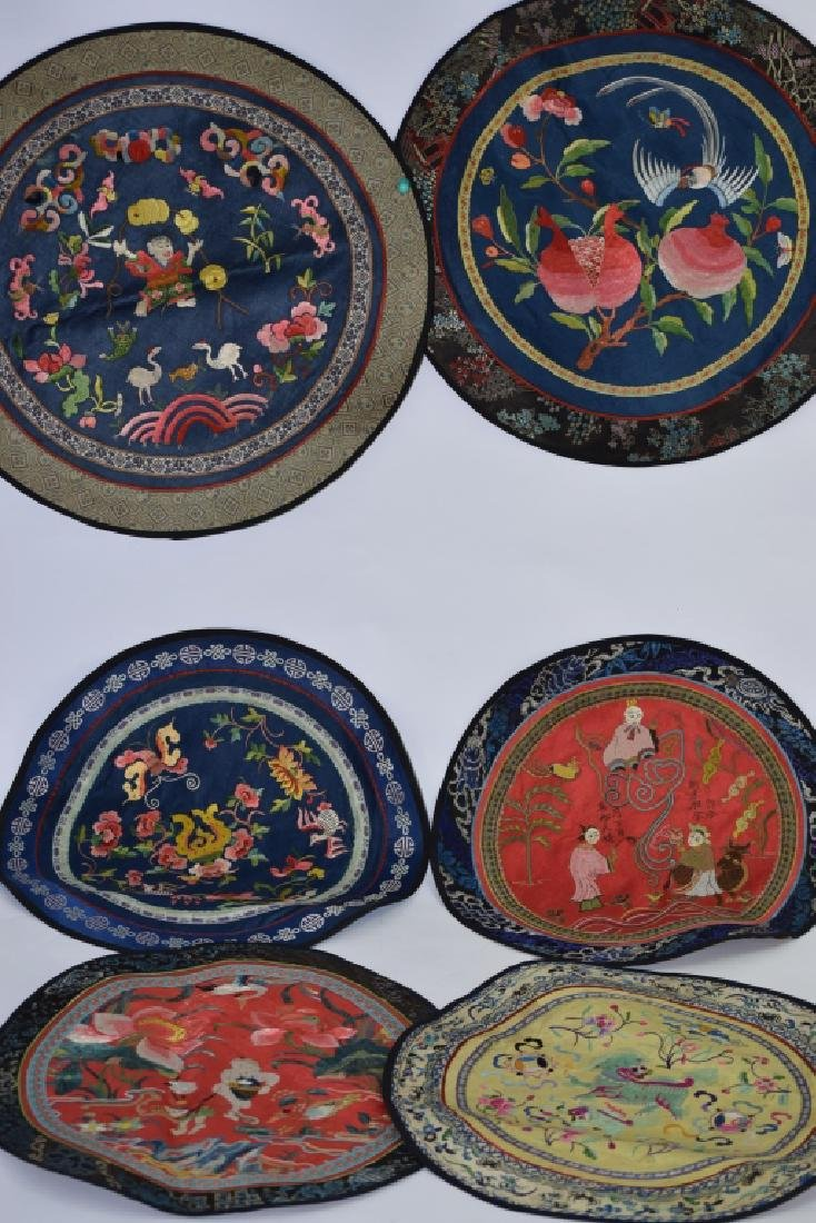 Group of 6 Chinese Embroidered Cushion Covers