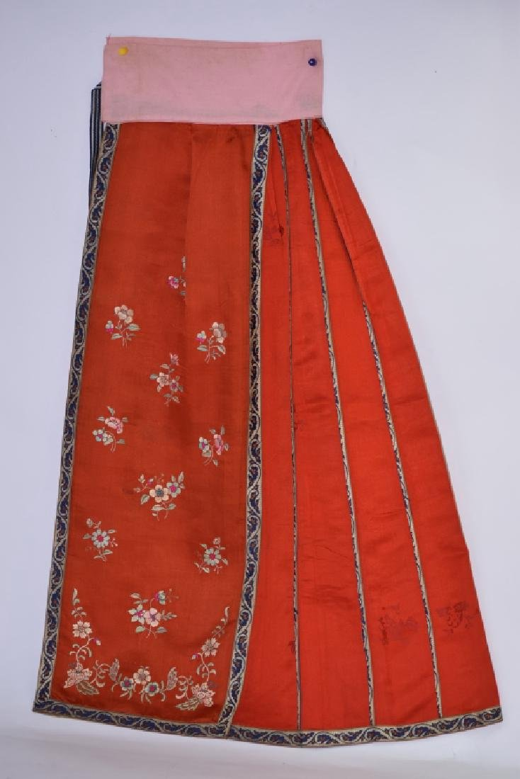 Qing Chinese Embroidered Skirt Wrap