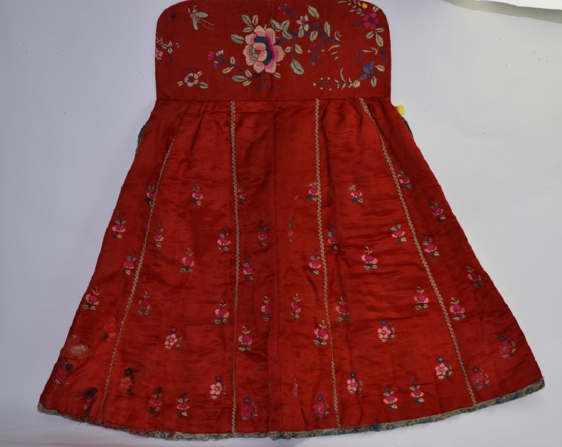 Qing Chinese Embroidered Winter Skirt Wrap
