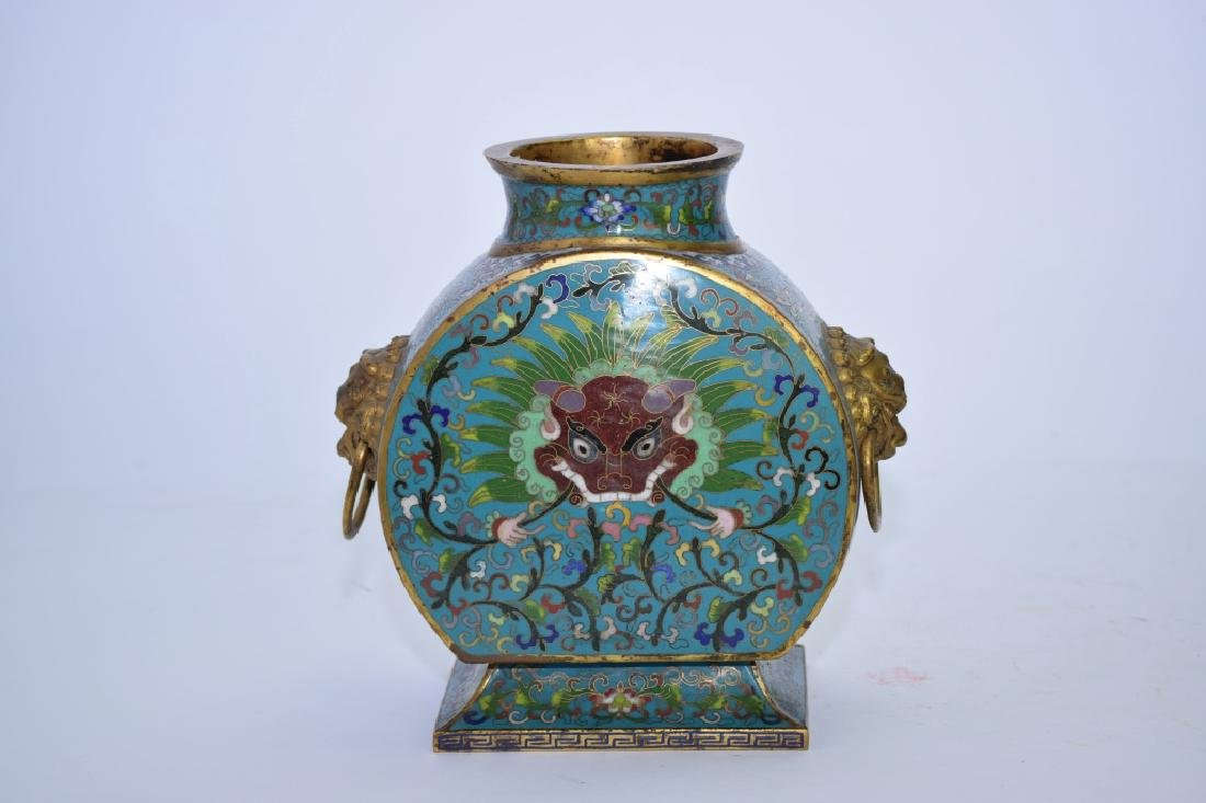 19th C. Chinese Cloisonne Zun Vase