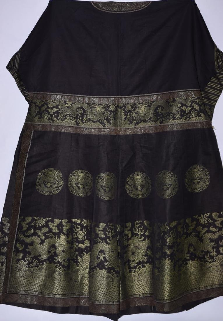 Qing Chinese Embroidered Emperor's Summer Robe - 11