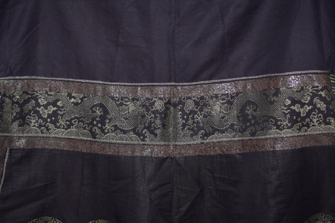 Qing Chinese Embroidered Emperor's Summer Robe - 12
